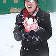 Collin in the snow