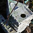 Church birdhouse debris